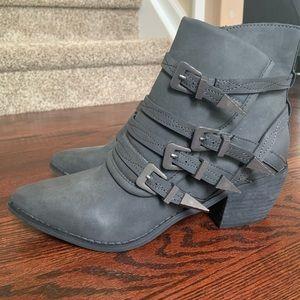 Dark Gray Buckle Boot